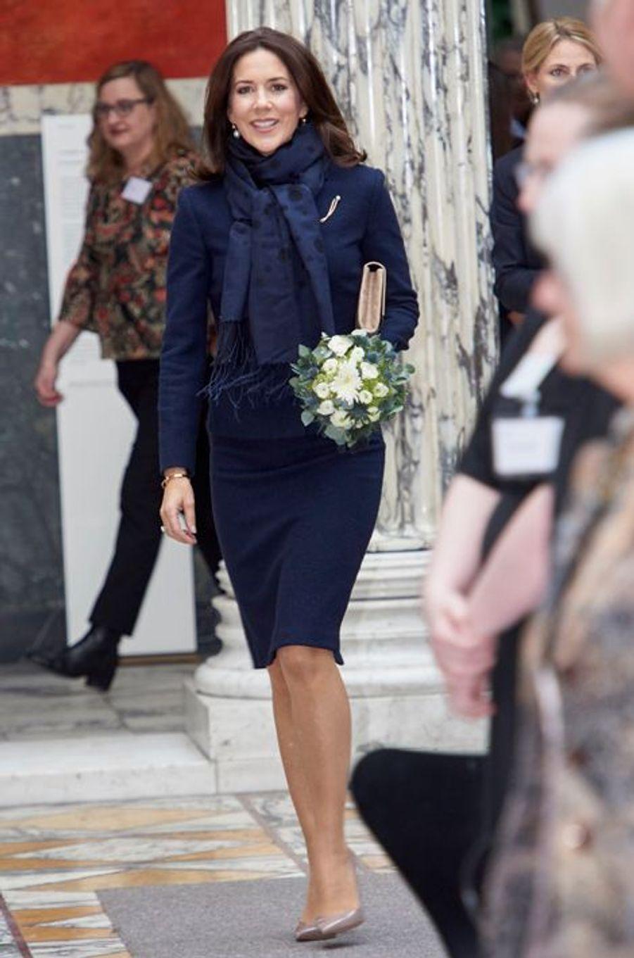 La princesse Mary de Danemark à Copenhague, le 25 février 2016
