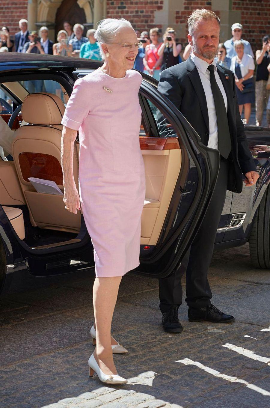 La reine Margrethe II de Danemark au château de Frederiksborg, le 24 mai 2018