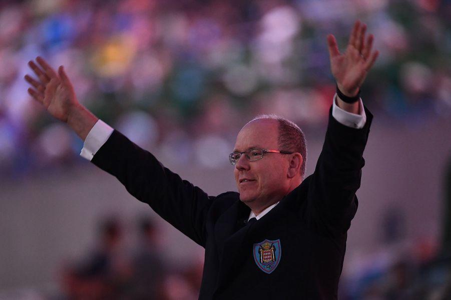 Le prince Albert II de Monaco à la cérémonie d'ouverture des JO de Rio, le 5 août 2016