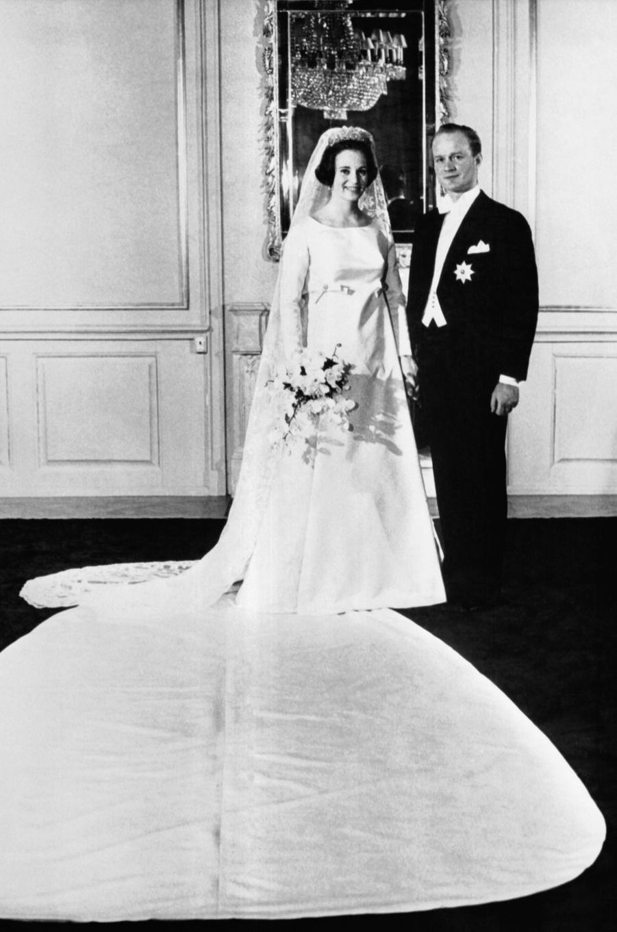 Le prince Richard zu Sayn-Wittgenstein-Berleburg lors de son mariage avec la princesse Benedikte de Danemark, le 3 février 1968