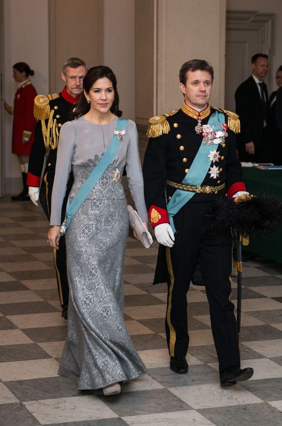 La princesse Mary et le prince Frederik de Danemark à Copenhague, le 3 janvier 2017