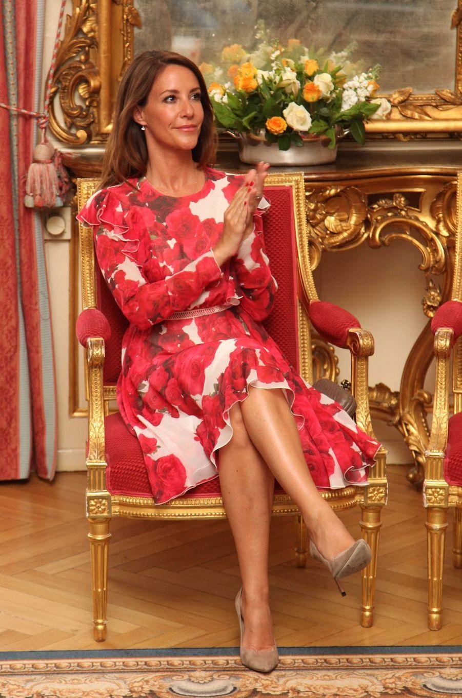 La princesse Marie de Danemark à l'ambassade de France à Copenhague, le 8 juin 2017