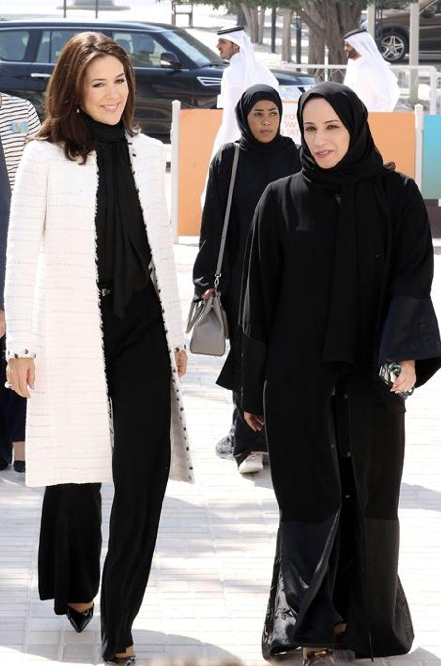 La princesse Mary de Danemark à Doha, le 3 mars 2016
