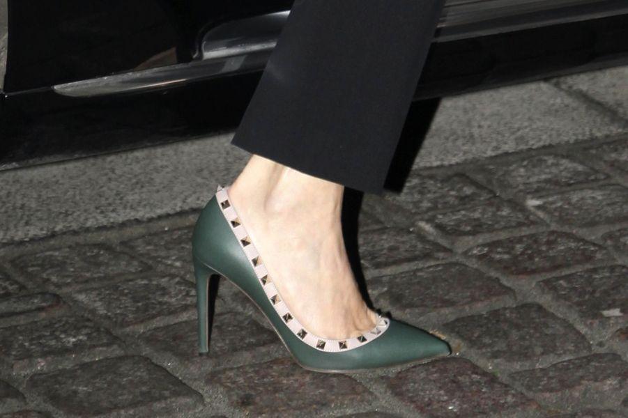 Les chaussures de la princesse Mary de Danemark à Copenhague, le 31 janvier 2017