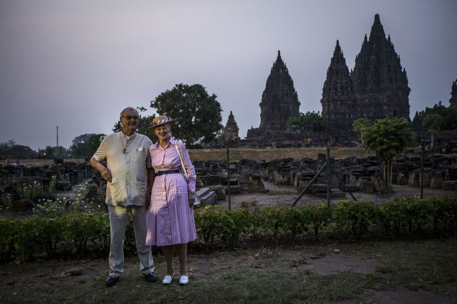 Margrethe et Henrik, tourisme royal à Java