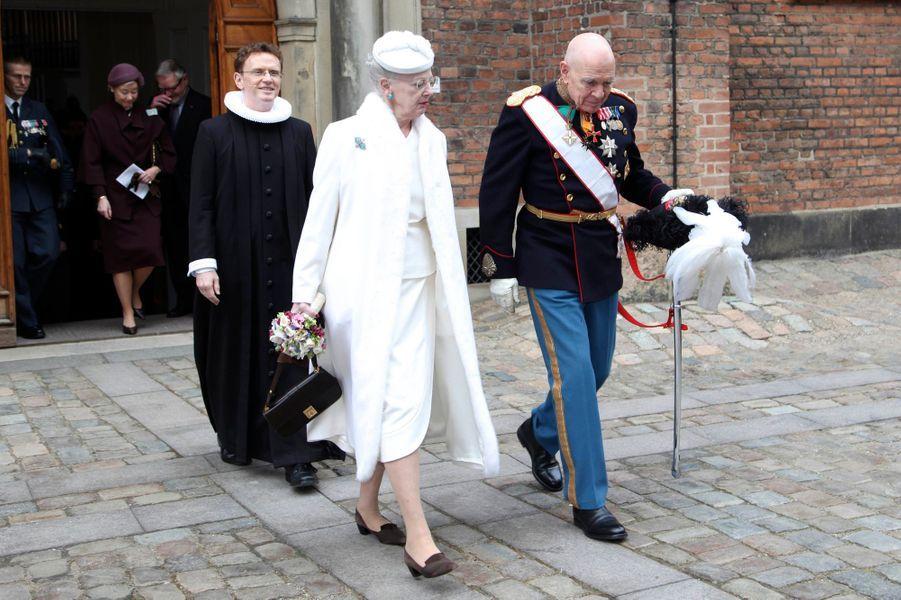 La reine Margrethe II de Danemark à Copenhague, le 13 mars 2016