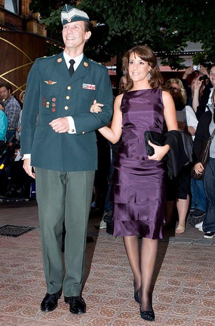 La princesse Marie de Danemark avec le prince Joachim, le 30 juin 2008