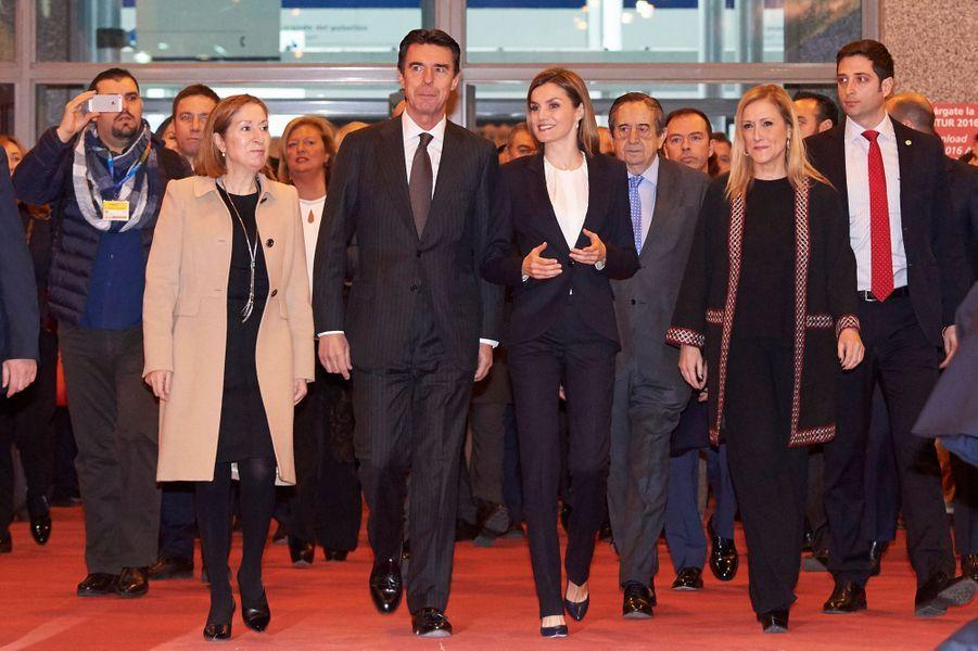 La reine Letizia d'Espagne inaugure le FITUR à Madrid, le 20 janvier 2016