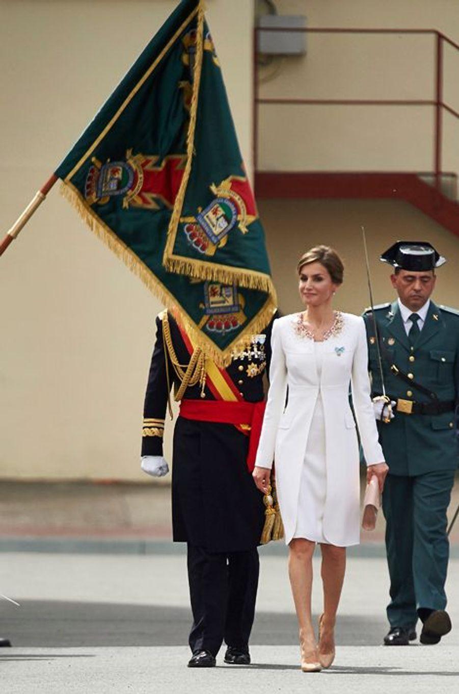 La reine Letizia d'Espagne à Vitoria-Gasteiz, le 13 avril 2015