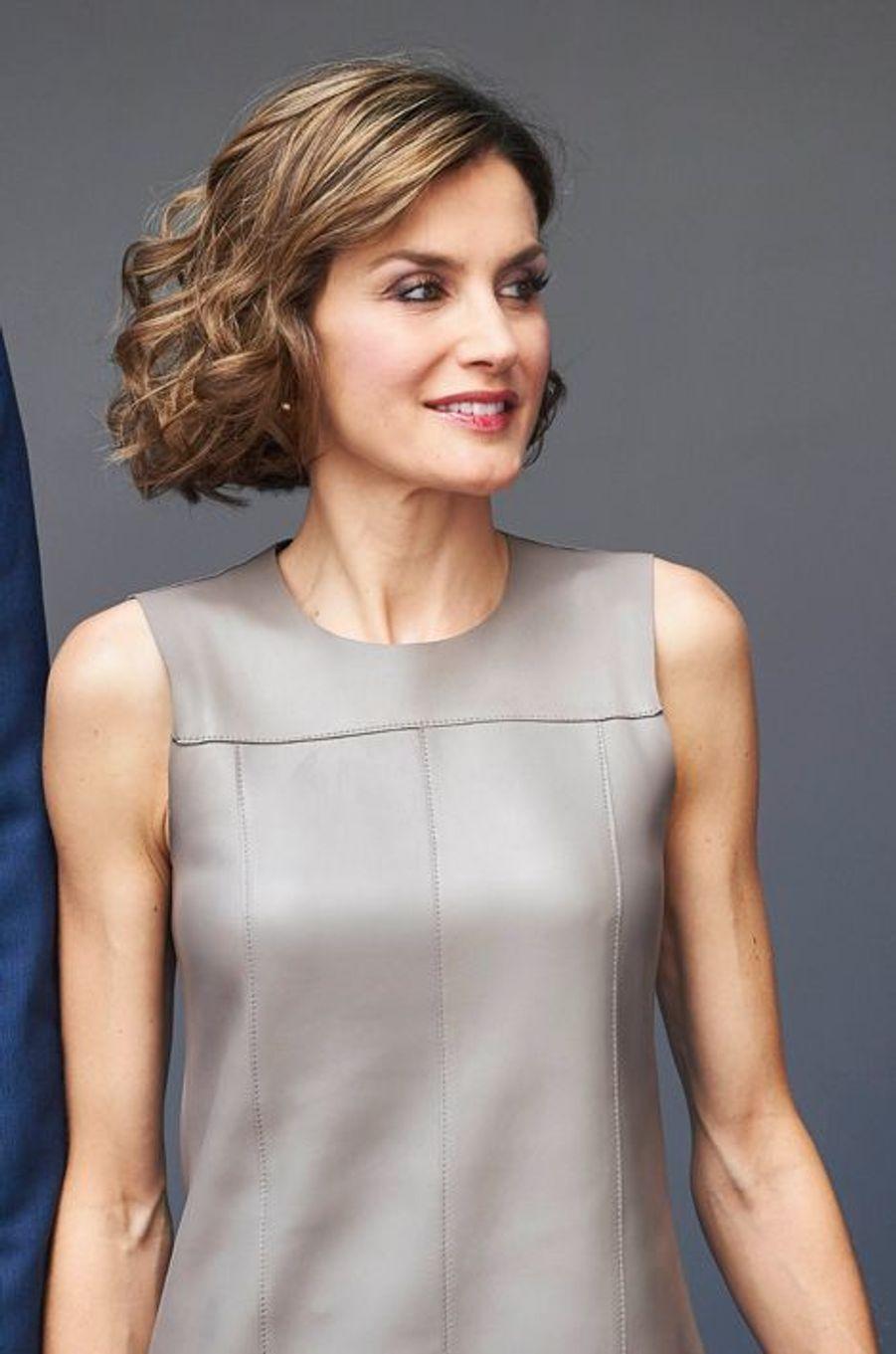 La reine Letizia d'Espagne aux 25 ans de Telecinco à Madrid, le 9 juillet 2015