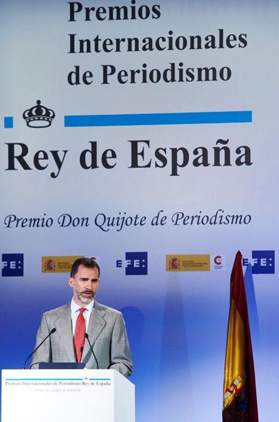 Le roi Felipe VI d'Espagne à Madrid, le 7 mai 2015