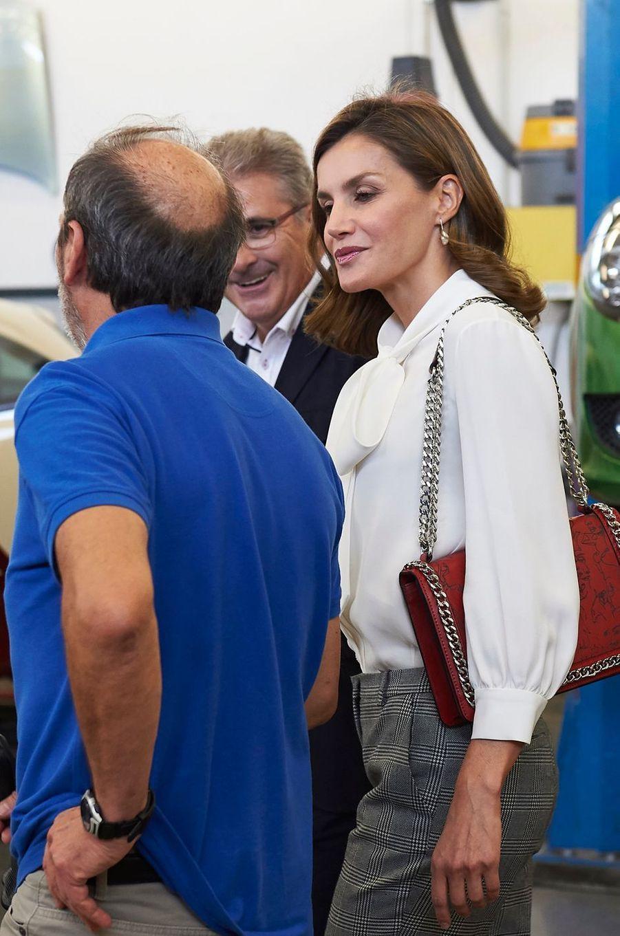 La reine Letizia d'Espagne à Teruel, le 27 septembre 2017