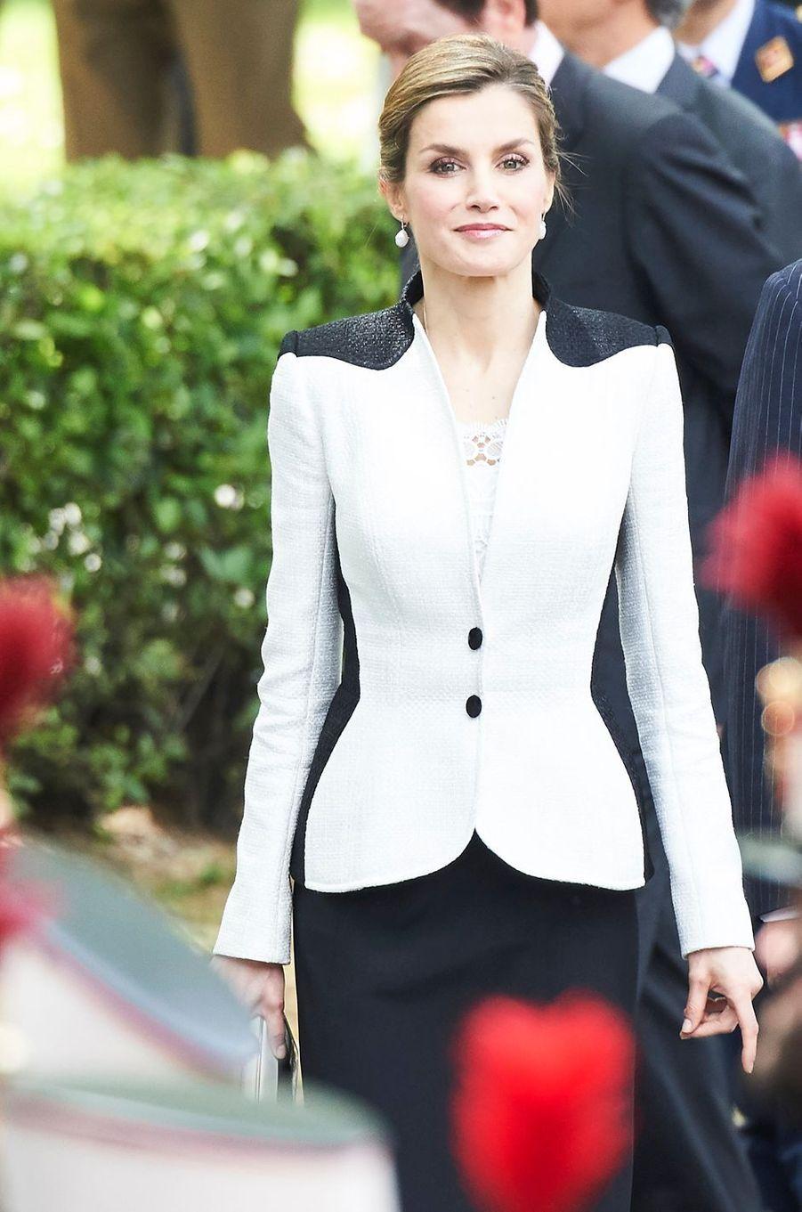 La reine Letizia d'Espagne à Madrid, le 28 mai 2016