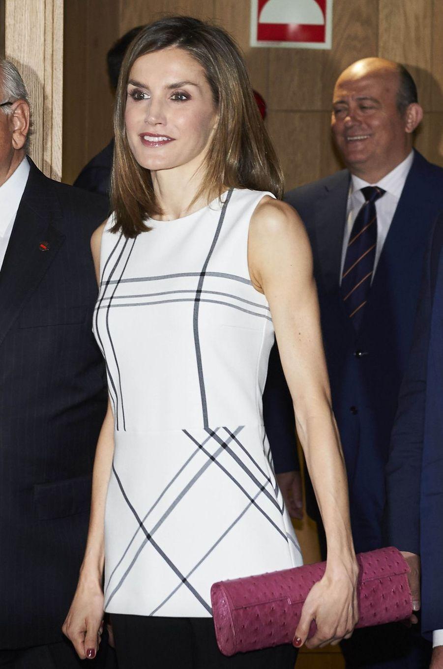 La reine Letizia d'Espagne à Madrid, le 30 septembre 2016
