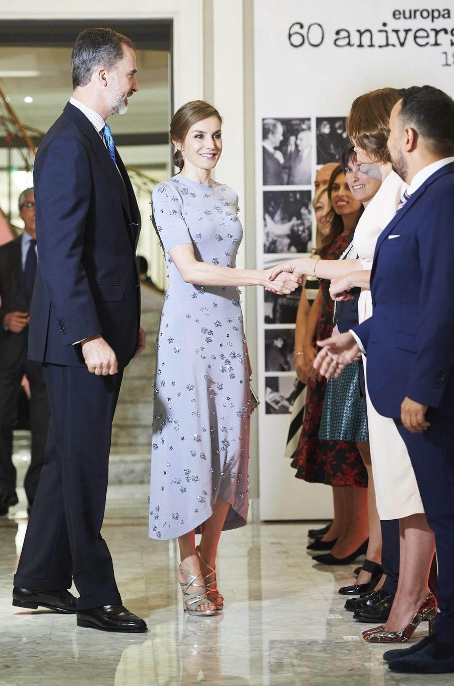 La reine Letizia et le roi Felipe VI d'Espagne à Madrid, le 30 mai 2017