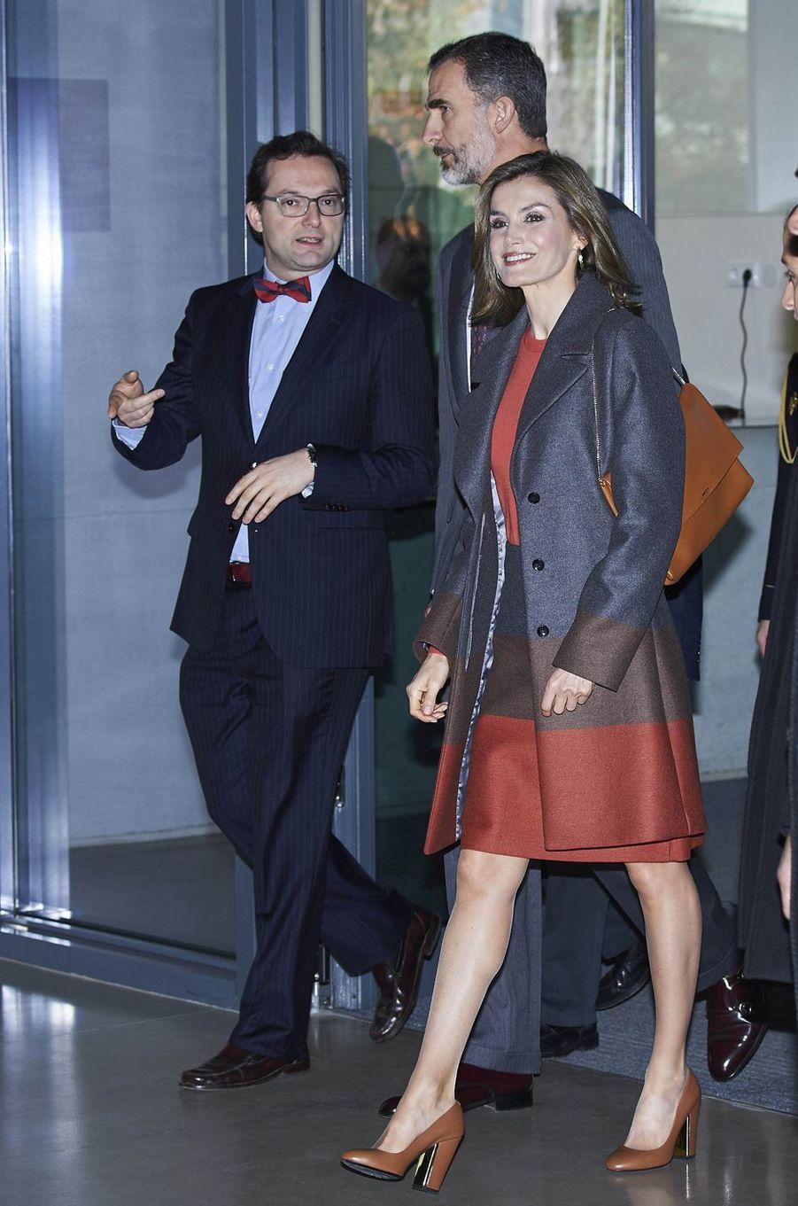 La reine Letizia et le roi Felipe VI d'Espagne à Porto, le 29 novembre 2016