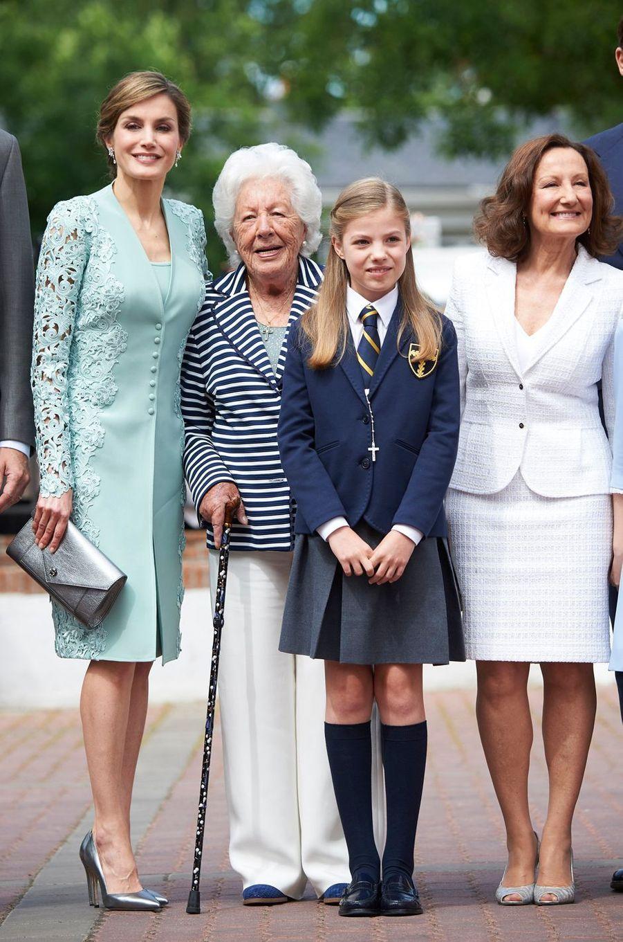 La reine Letizia d'Espagne, le 17 mai 2017
