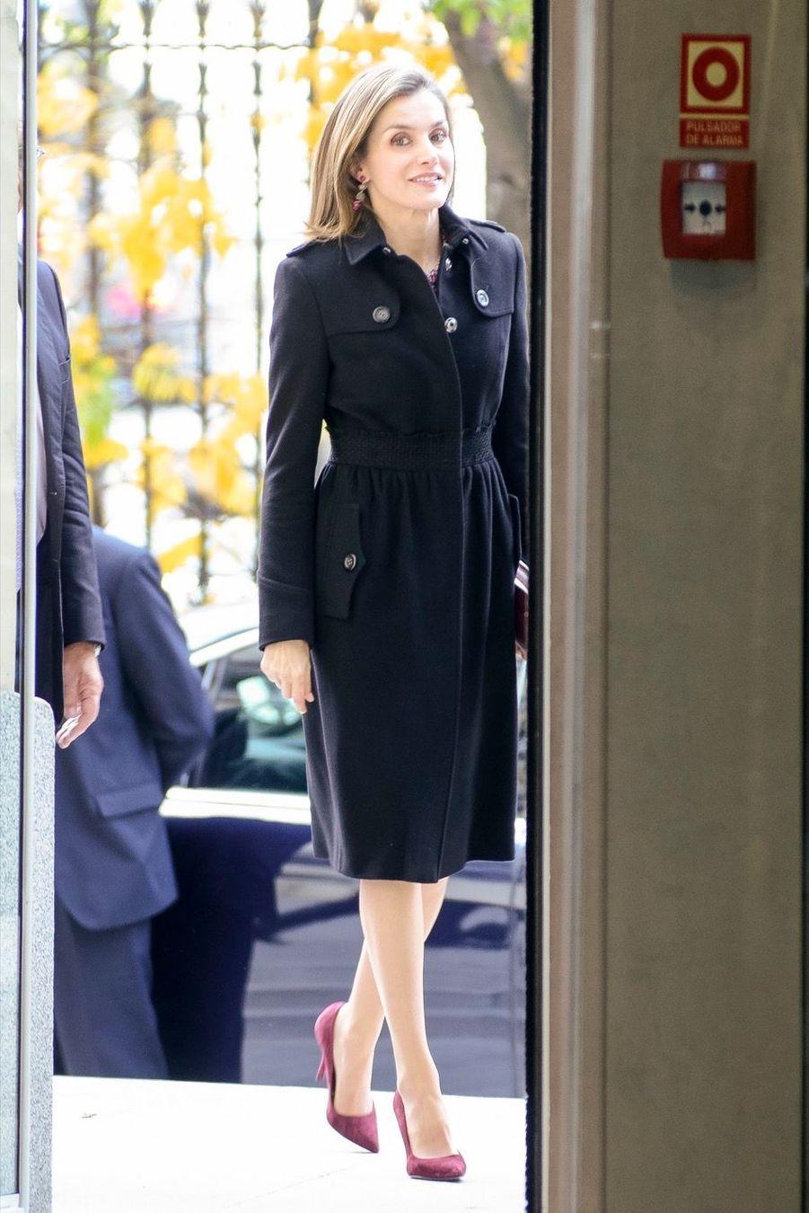 La Reine Letizia D'Espagne Lors D'une Réunion De La Fondation D'aide Contre La Toxicomanie 1