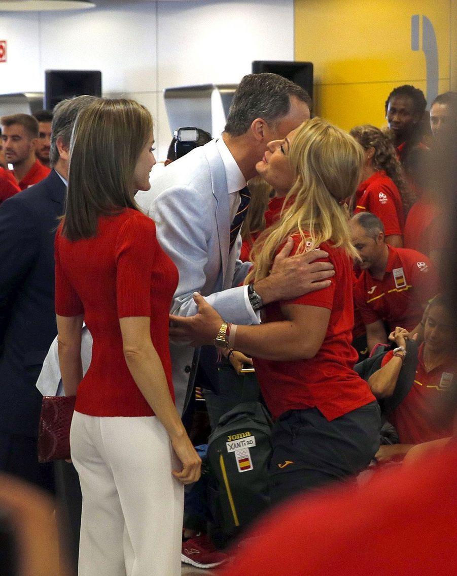 Letizia, reine rouge pour les athlètes espagnols