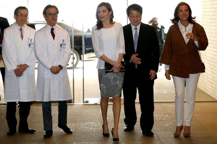 Letizia d'Espagne à Tokyo, le 6 avril 2017
