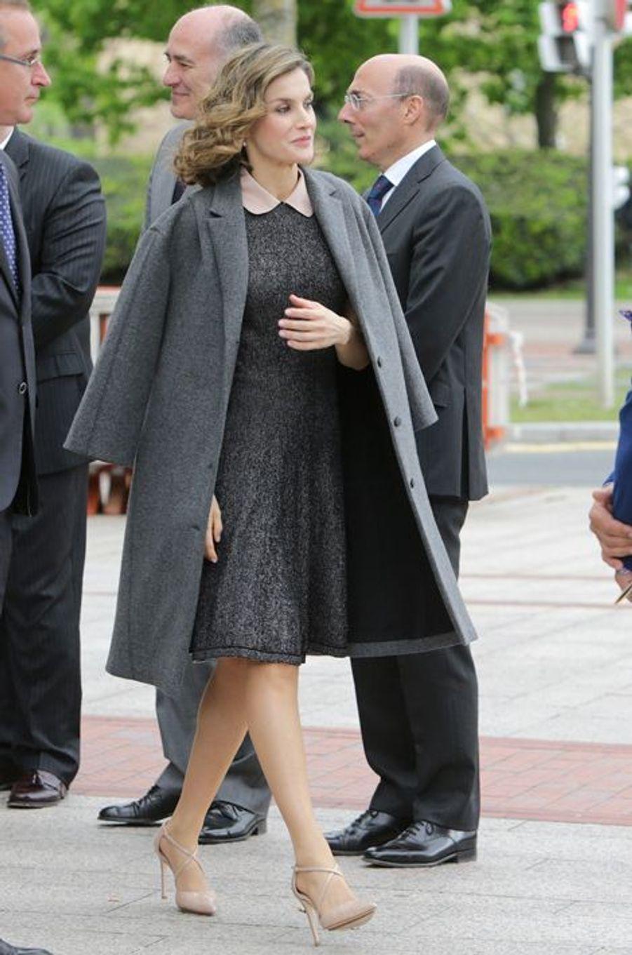 La reine Letizia d'Espagne à Bilbao, le 21 avril 2016