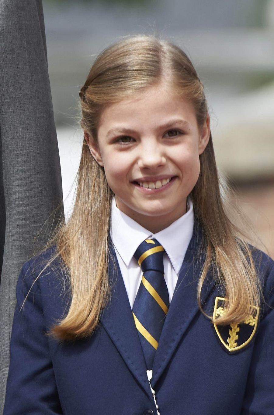 La princesse Sofia d'Espagne à Madrid, le 17 mai 2017