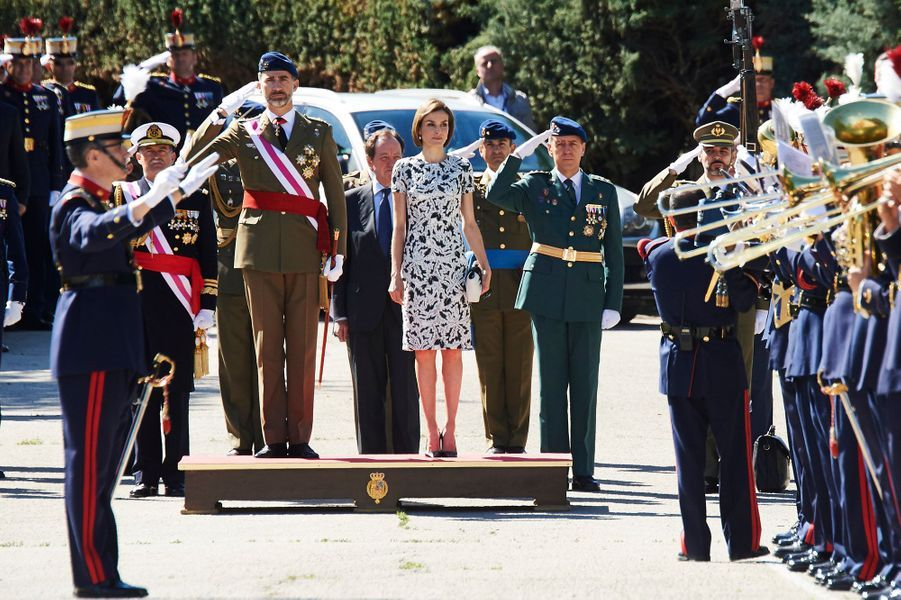 Le roi Felipe VI et la reine Letizia d'Espagne au château du Pardo à Madrid, le 22 mai 2013