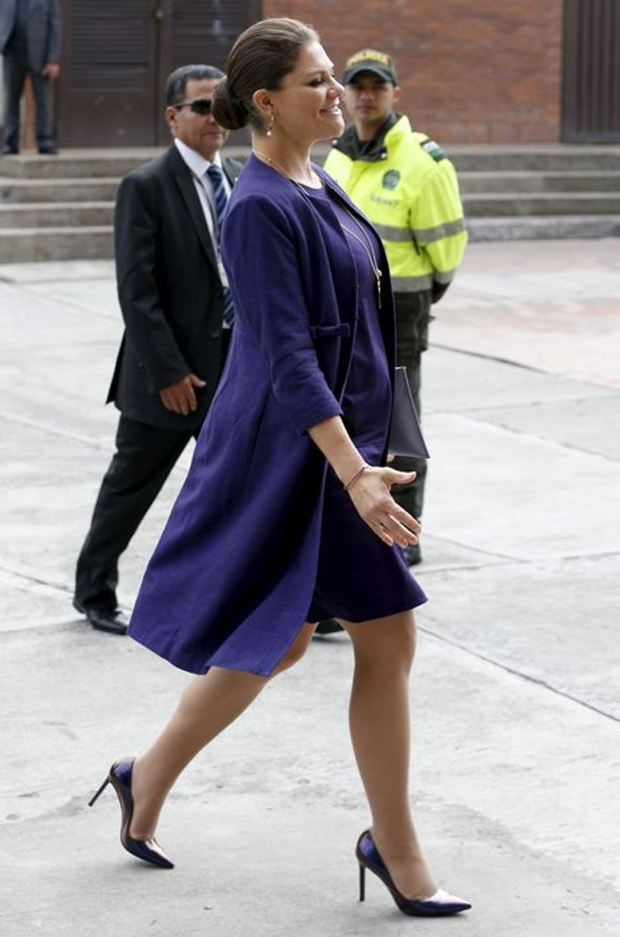 La princesse Victoria de Suède à Bogota, le 22 octobre 2015