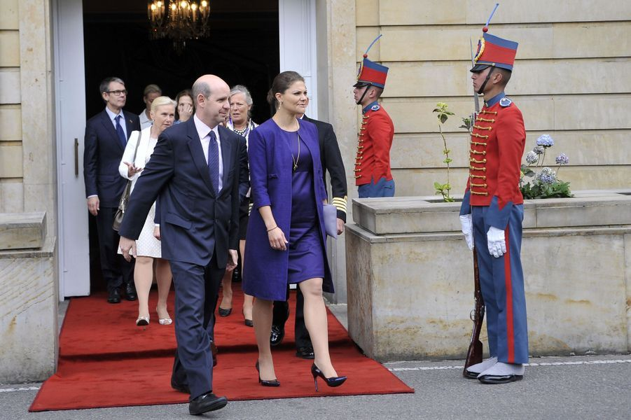 La princesse Victoria de Suède et le prince consort Daniel à Bogota, le 22 octobre 2015