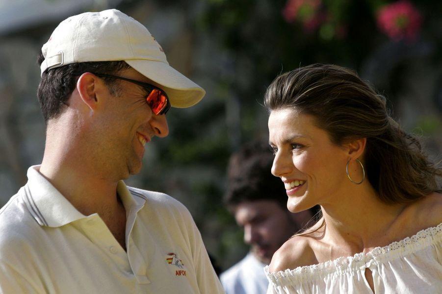 Letizia, alors princesse des Asturies, avec le prince Felipe, le 23 juin 2006