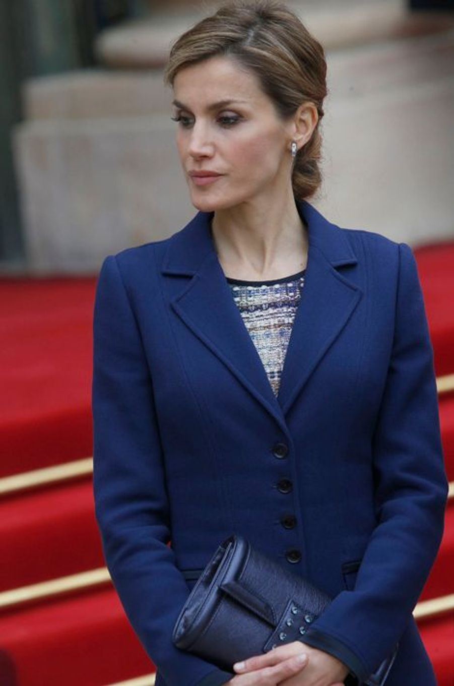 La reine Letizia d'Espagne à Paris, le 24 mars 2015