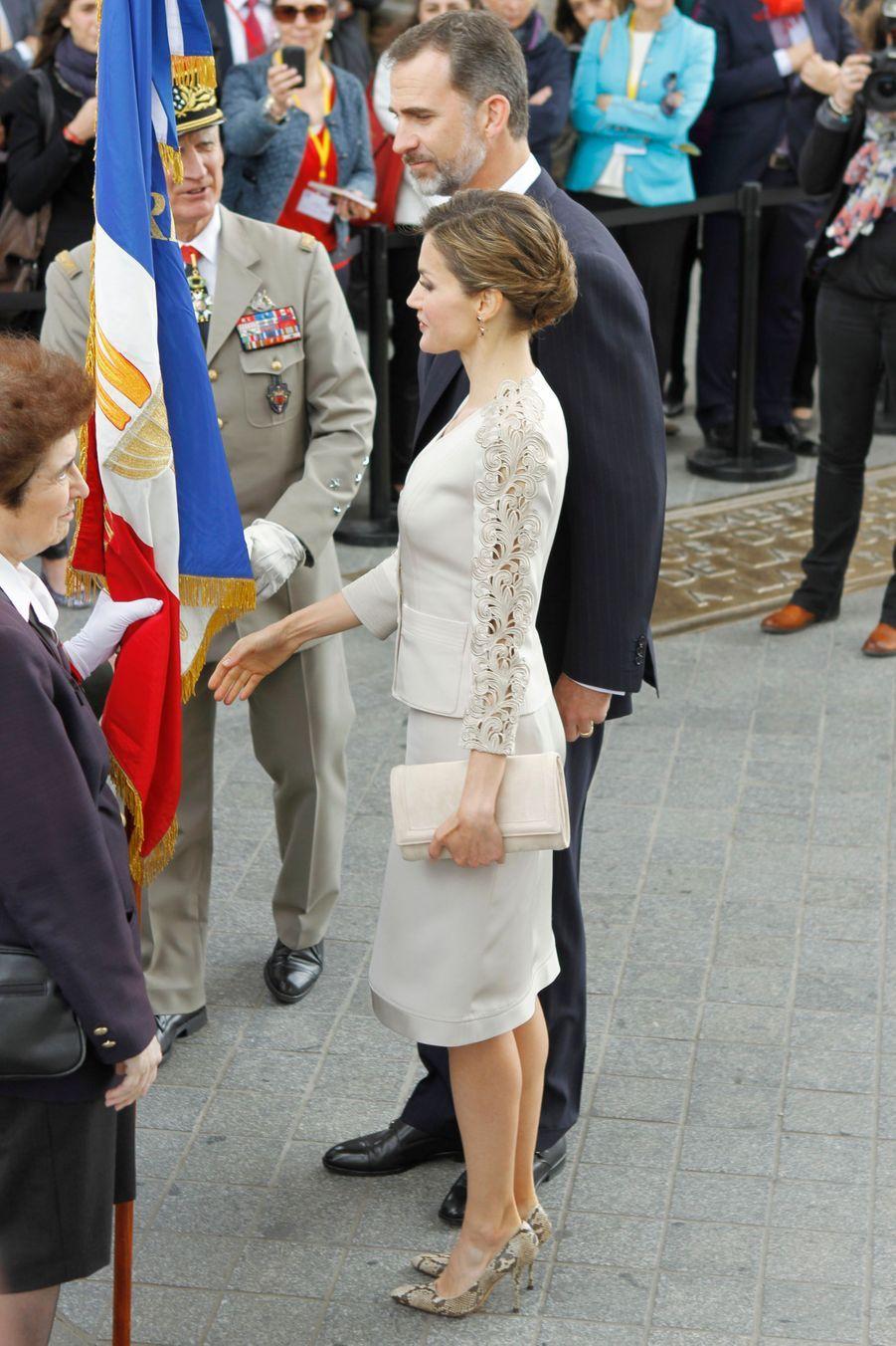 La reine Letizia d'Espagne à Paris, le 2 juin 2015