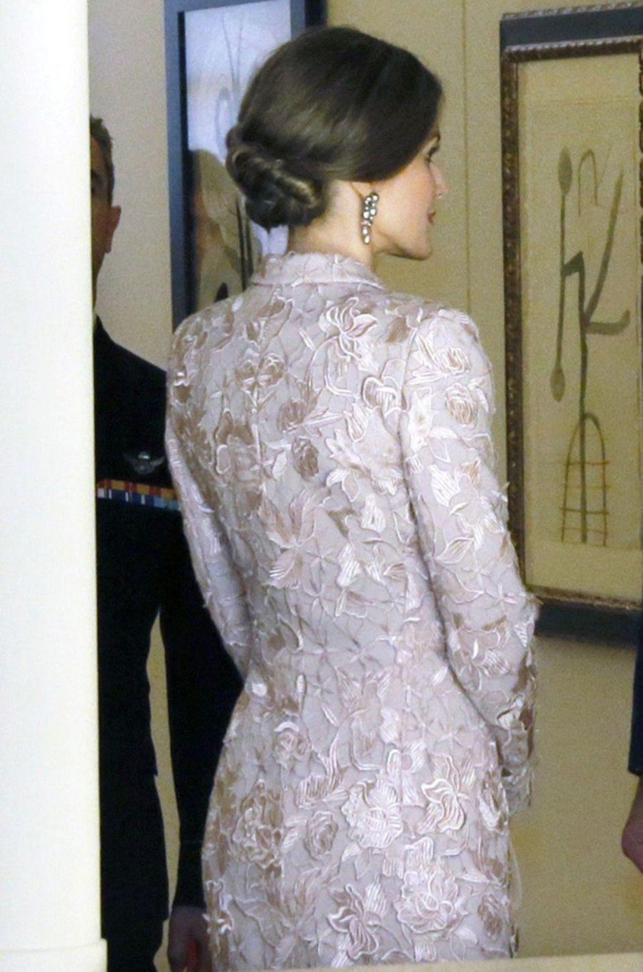 La reine Letizia d'Espagne à Porto, le 28 novembre 2016