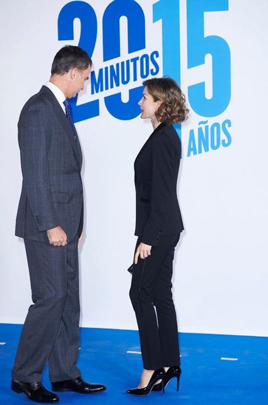 La reine Letizia et le roi Felipe VI d'Espagne à Madrid, le 24 novembre 2015