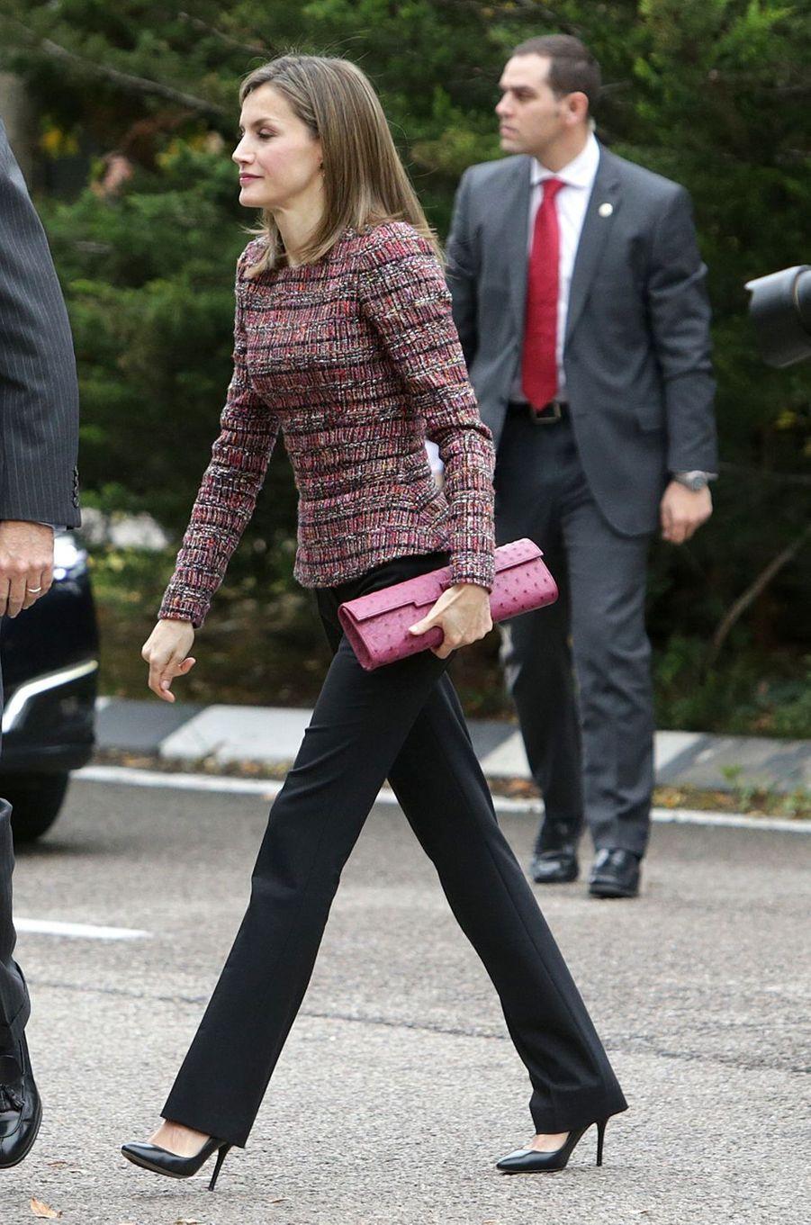 La reine Letizia d'Espagne à Madrid, le 22 novembre 2016