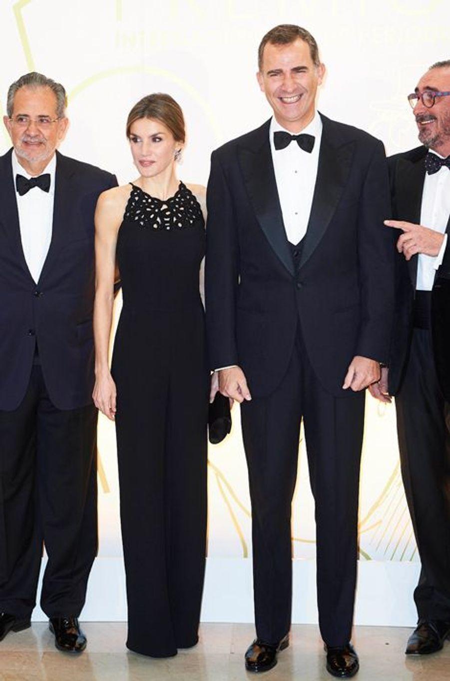 La reine Letizia et le roi Felipe VI d'Espagne à Madrid, le 10 décembre 2015