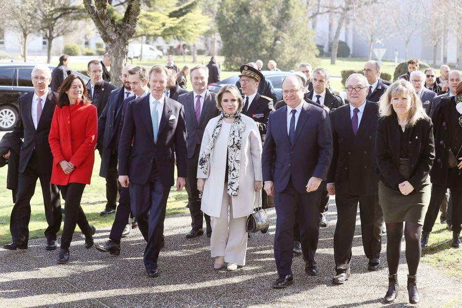 Le grand-duc Henri et la grande-duchesse Maria Teresa de Luxembourg à Toulouse, le 21 mars 2018