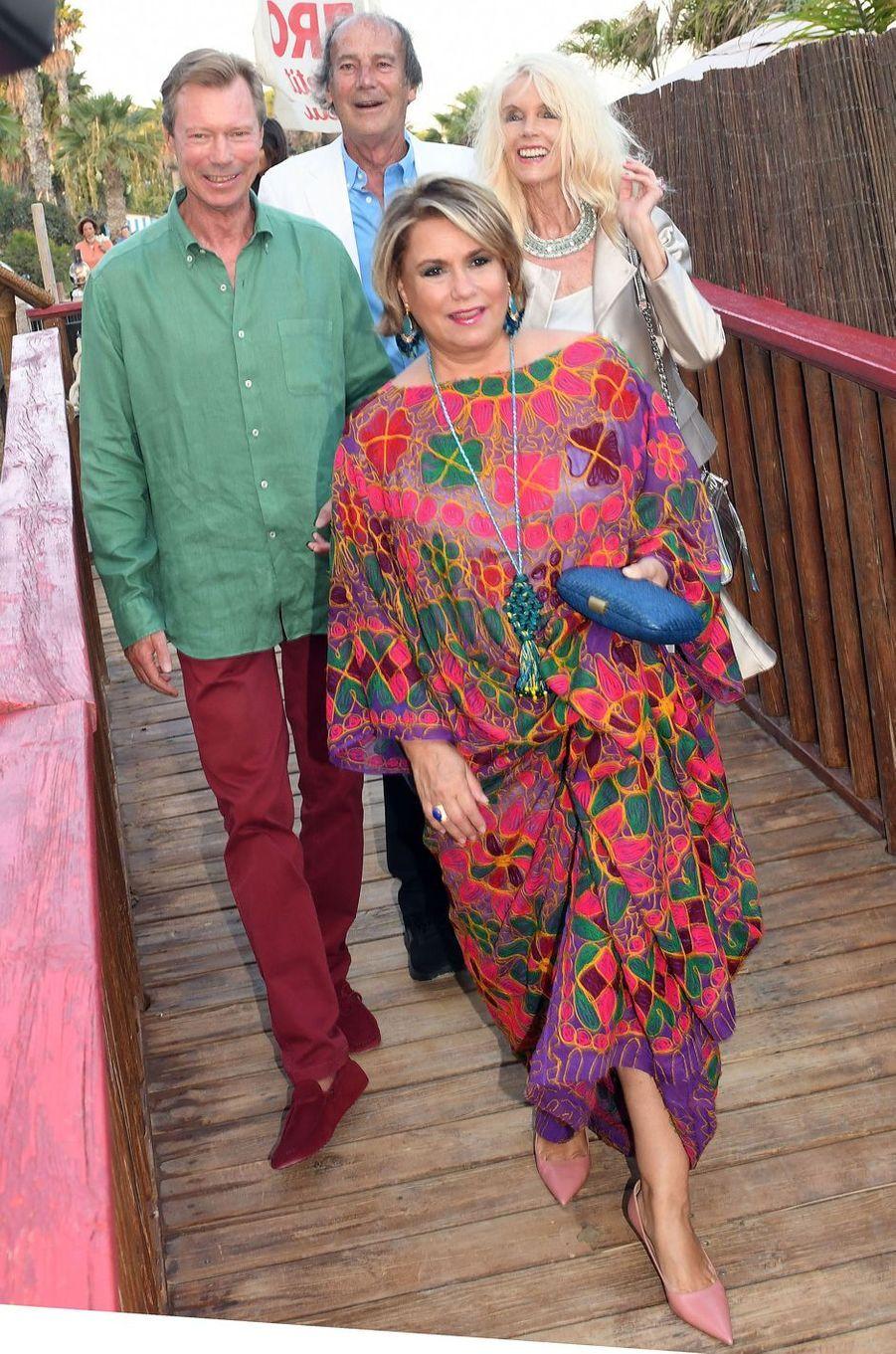 La grande-duchesse Maria Teresa de Luxembourg et le grand-duc Henri à Marbella, le 1er septembre 2017
