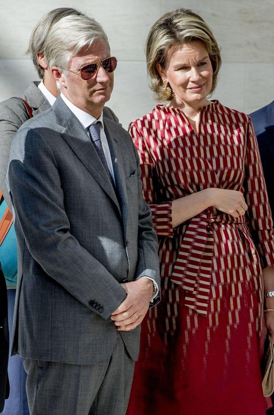 La reine Mathilde et le roi Philippe de Belgique à Luxembourg, le 26 septembre 2017