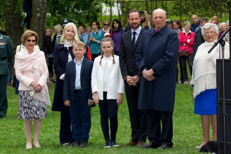 La famille royale de Norvège à Oslo, le 19 mai 2016