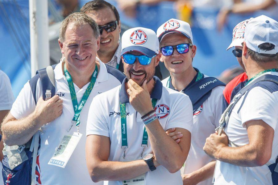 Le prince Haakon de Norvège aux JO de Rio, le 18 août 2016
