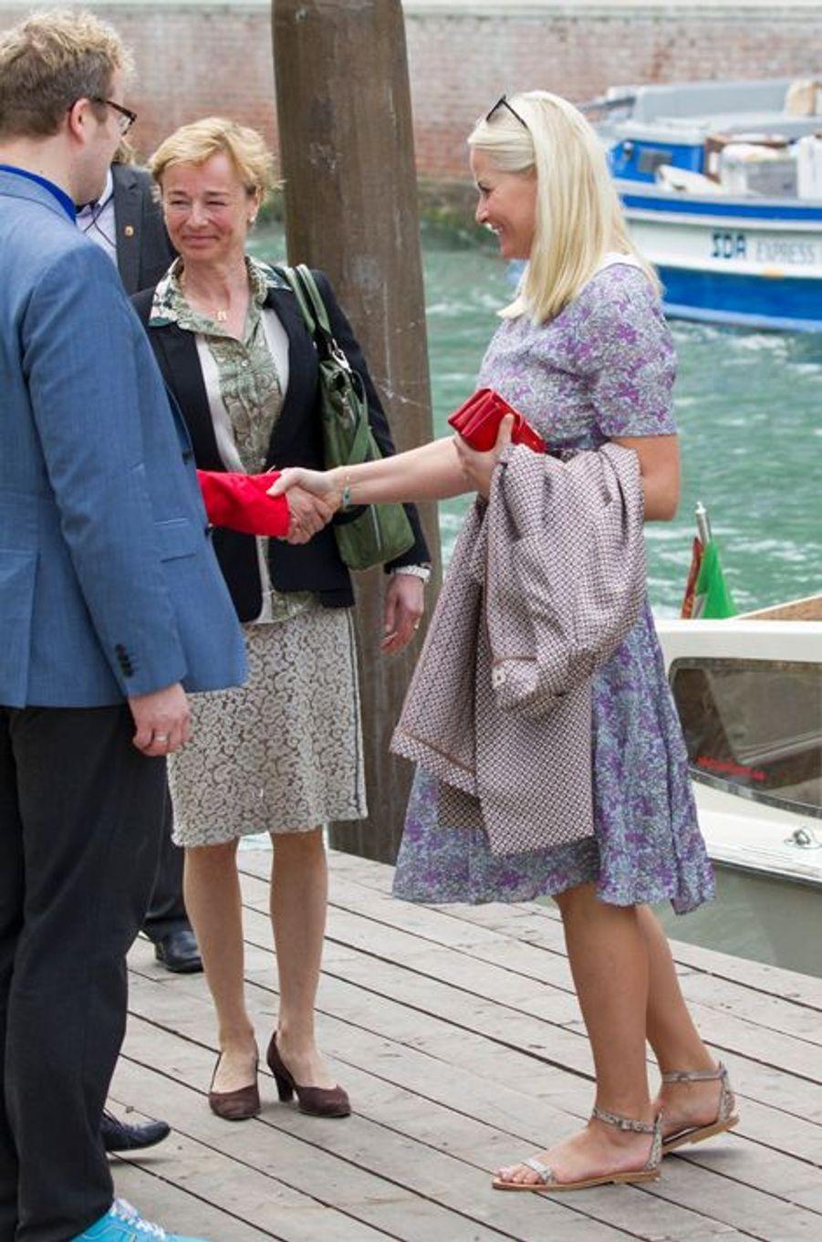 La princesse Mette-Marit de Norvège à Venise, le 6 mai 2015