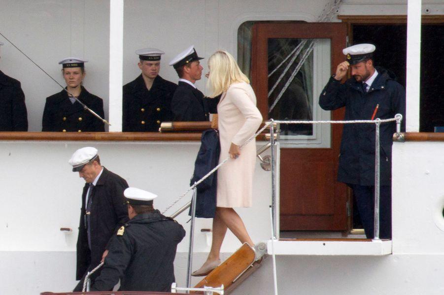 La princesse Mette-Marit et le prince Haakon de Norvège à Stavanger, le 27 juin 2016