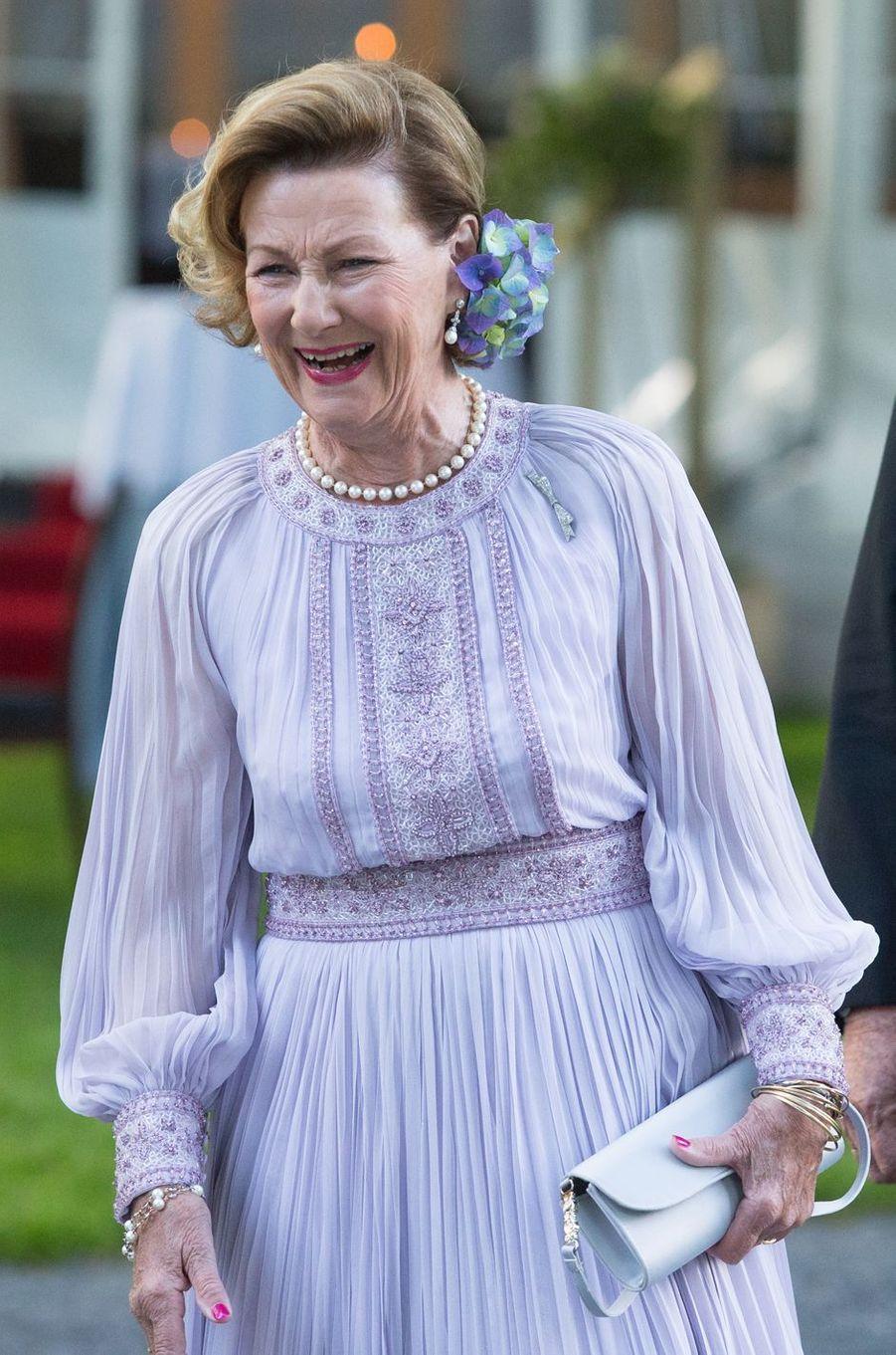 La reine Sonja de Norvège à Oslo, le 4 juillet 2017