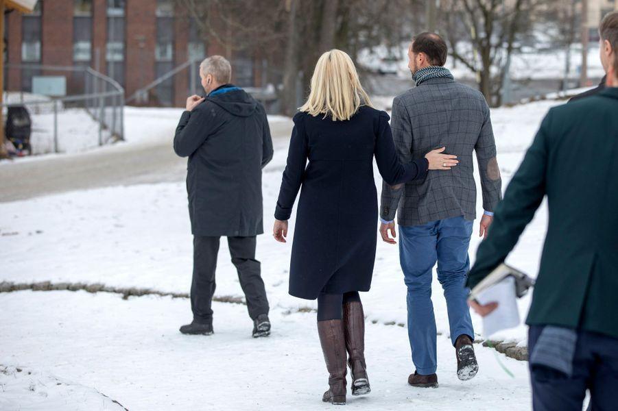 Mette-Marit et Haakon de Norvège à Oslo le 15février 2017