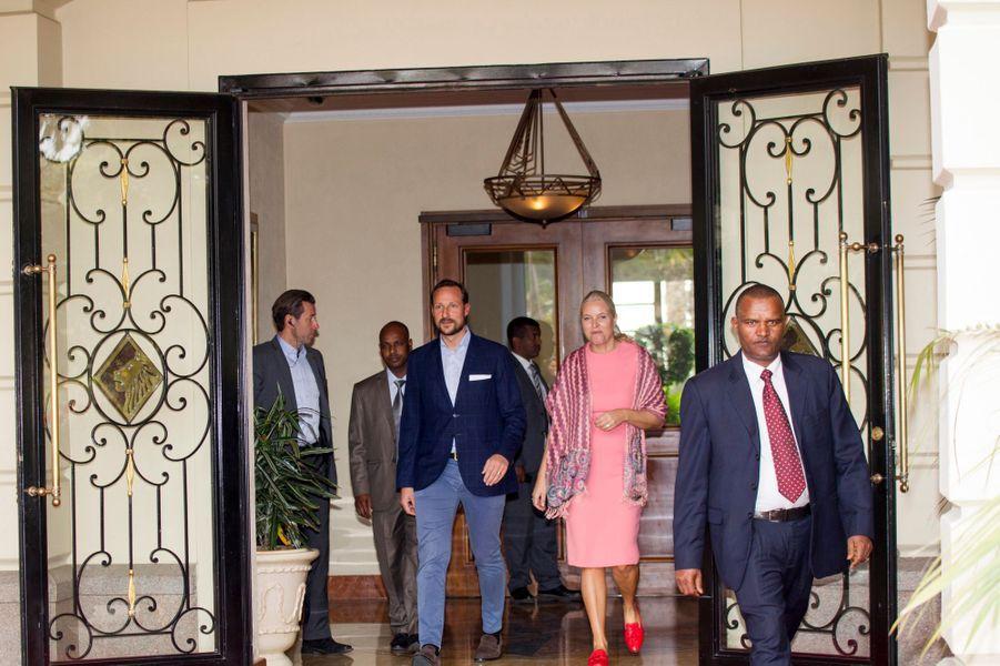 La princesse Mette-Marit et le prince Haakon de Norvège à Addis-Abeba, le 6 novembre 2017