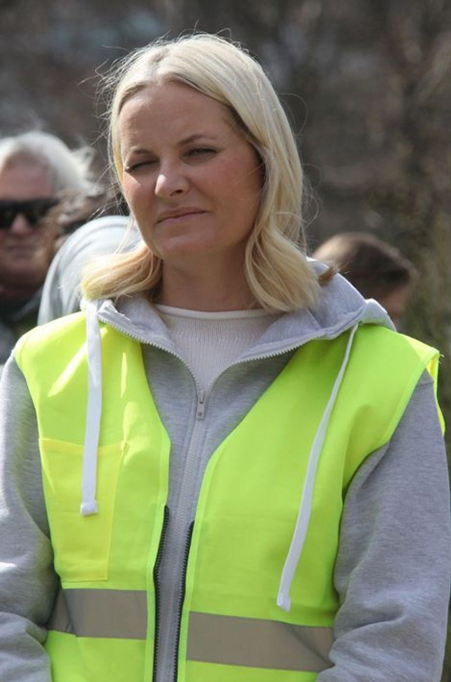 La princesse Mette-Marit de Norvège à Sandefjord, le 19 avril 2016