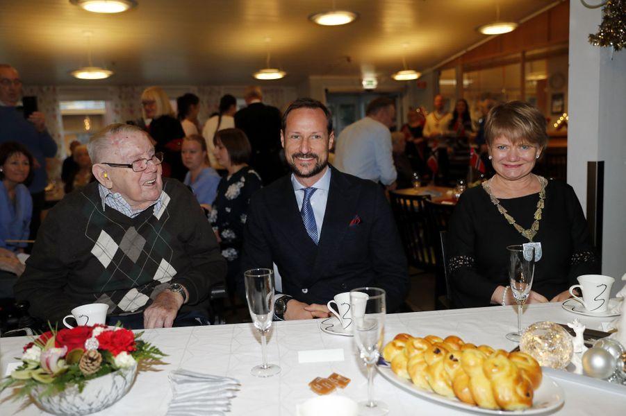 Le prince Haakon de Norvège à Lorenskog, le 13 décembre 2017