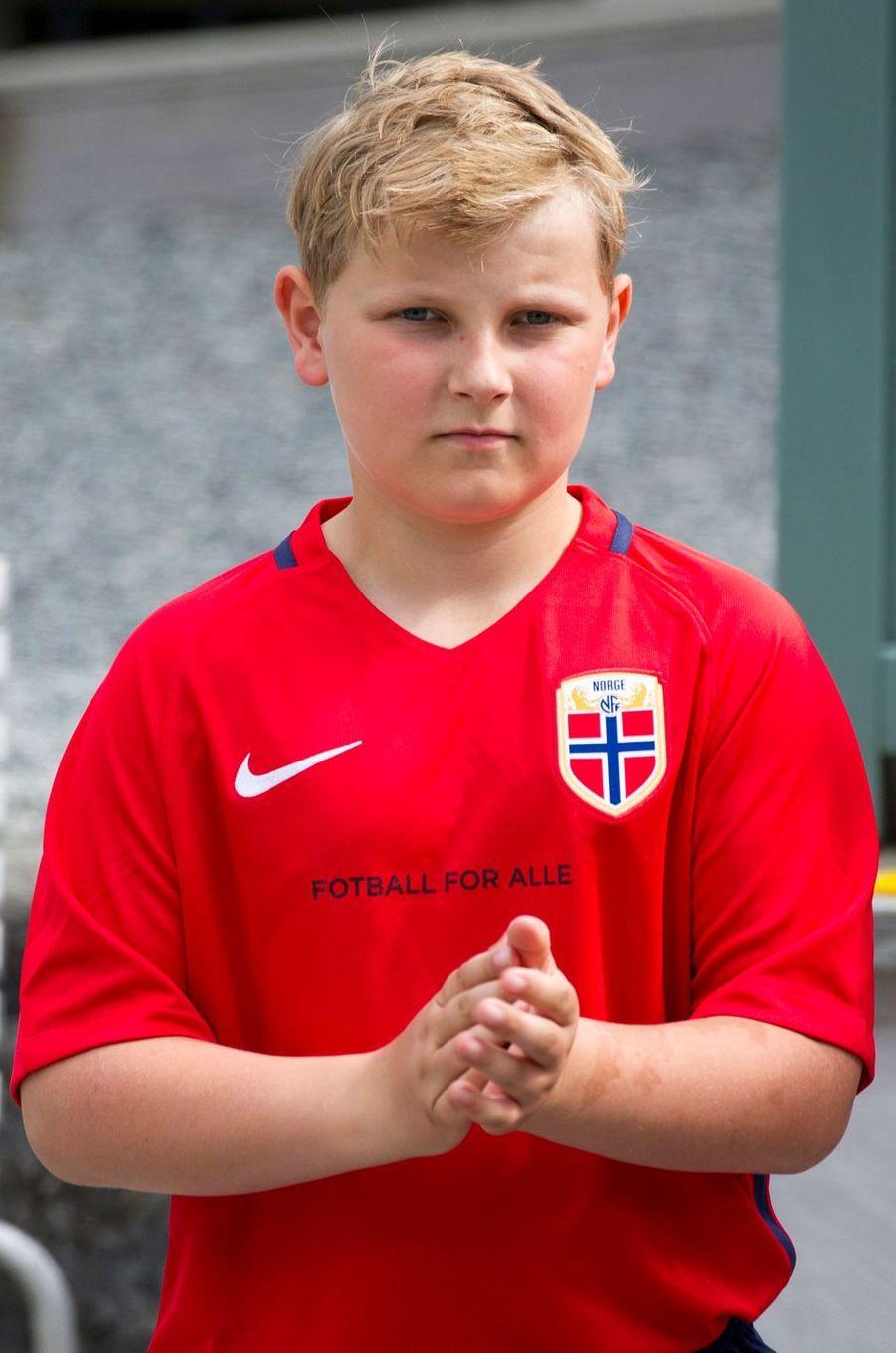 Le prince Sverre Magnus de Norvège à Asker, le 14 juin 2017