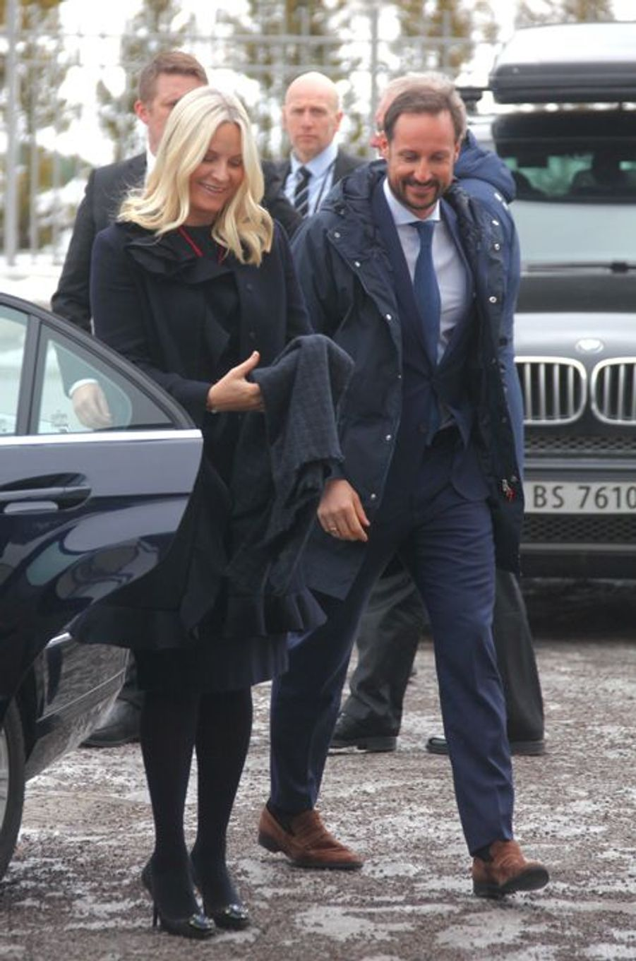 La princesse Mette-Marit et le prince Haakon de Norvège à Oslo, le 1er mars 2016